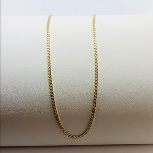 "real 10k gold lightweight Women's necklace 18"""